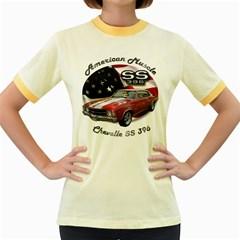 Chevy Chevelle SS 396 Women s Fitted Ringer T-Shirt by BlueRidgeArtisans