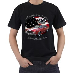 Chevy Chevelle SS 396 Black T-Shirt (Two Sides) by BlueRidgeArtisans
