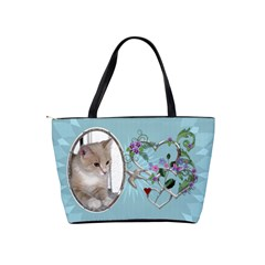 Pretty Blue Design Shoulder Handbag By Lil    Classic Shoulder Handbag   220jou31w74n   Www Artscow Com Back