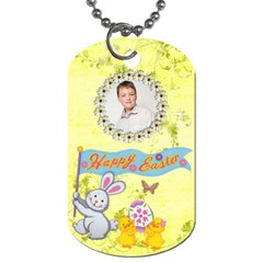 Happy Easter Dogtag Double Sided By Catvinnat   Dog Tag (two Sides)   9xslsdrxn6hf   Www Artscow Com Front