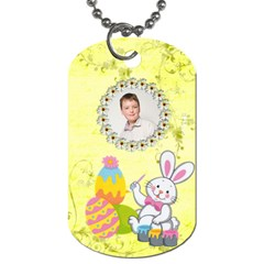 Happy Easter Dogtag Double Sided By Catvinnat   Dog Tag (two Sides)   9xslsdrxn6hf   Www Artscow Com Back