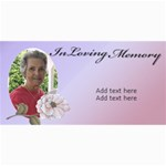 In Loving Memory (Lady) - 4  x 8  Photo Cards