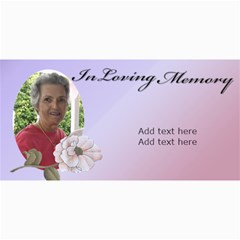 In Loving Memory (lady) By Deborah   4  X 8  Photo Cards   0rs4jeg5tczt   Www Artscow Com 8 x4 Photo Card - 4