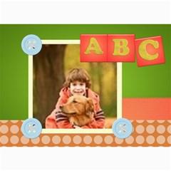 Abc By Wood Johnson   5  X 7  Photo Cards   Lua0eafn3uio   Www Artscow Com 7 x5 Photo Card - 8