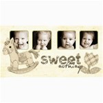 Sweet Nothings Sepia Baby Photo Card - 4  x 8  Photo Cards