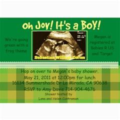 Megan Baby Shower By Amanda   5  X 7  Photo Cards   8mr750y6wl2l   Www Artscow Com 7 x5 Photo Card - 4