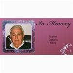 In Memory (Male) Photo card (10) - 4  x 8  Photo Cards