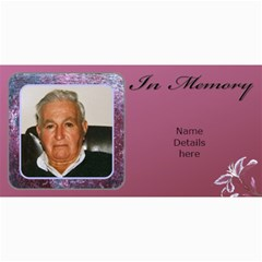 In Memory (male) Photo Card (10) By Deborah   4  X 8  Photo Cards   Fyy9p39hbore   Www Artscow Com 8 x4 Photo Card - 5