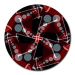 Sortiaria Geo Dots Art Round Mousepad