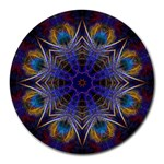 Purple Web Mandala Round Mousepad