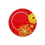 Celebrate in the Sun Round Coaster 2 - Rubber Round Coaster (4 pack)