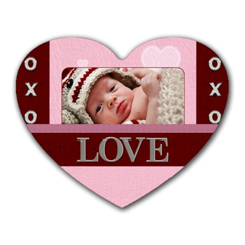 Love Xoxo Heart Mousepad By Lil    Heart Mousepad   Ug7dgp2eiwa8   Www Artscow Com Front