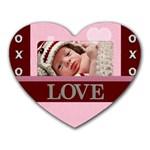 Love xoxo Heart Mousepad