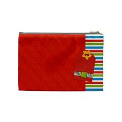 Sunshine Beach Medium Cosmetic Bag 1 By Lisa Minor   Cosmetic Bag (medium)   Poeuyoqobok9   Www Artscow Com Back