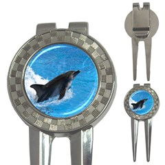 Swimming Dolphin 3 In 1 Golf Divot
