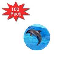 Jumping Dolphin 1  Mini Magnet (100 Pack)  by dropshipcnnet