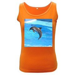 Jumping Dolphin Women s Dark Tank Top by dropshipcnnet