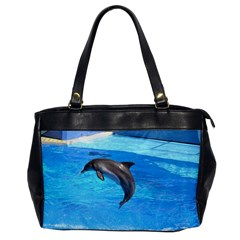 Jumping Dolphin Oversize Office Handbag (one Side) by dropshipcnnet