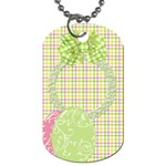 Eggzactly Spring 2 sided Dog Tag 1 - Dog Tag (Two Sides)