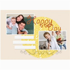 Happy Day By Joely   5  X 7  Photo Cards   Fxrzi60a8fof   Www Artscow Com 7 x5 Photo Card - 5