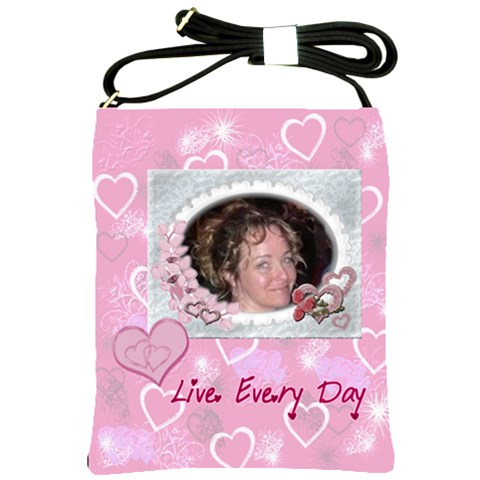 Live Every Day Hearts N Roses Sling Bag By Ellan   Shoulder Sling Bag   Voeavcy5rcm0   Www Artscow Com Front
