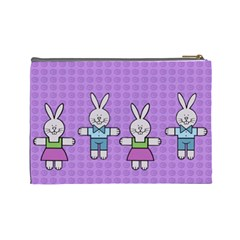 Frames And Rabbits   Custom Cosmetic Bag (large) By Carmensita   Cosmetic Bag (large)   Xsrqq2se02v1   Www Artscow Com Back