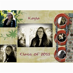 Kayla Announcement 2011 By Tammy Baker   5  X 7  Photo Cards   G5co83ua79ty   Www Artscow Com 7 x5 Photo Card - 2