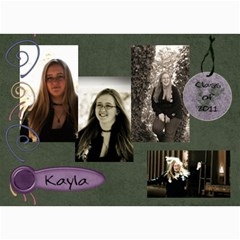 Kayla Announcement 2011 By Tammy Baker   5  X 7  Photo Cards   G5co83ua79ty   Www Artscow Com 7 x5 Photo Card - 3