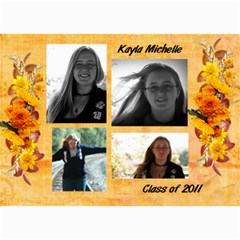 Kayla Announcement 2011 By Tammy Baker   5  X 7  Photo Cards   G5co83ua79ty   Www Artscow Com 7 x5 Photo Card - 5
