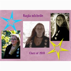 Kayla Announcement 2011 By Tammy Baker   5  X 7  Photo Cards   G5co83ua79ty   Www Artscow Com 7 x5 Photo Card - 7