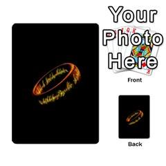 La Compania Del Anillo By Stratosdj   Multi Purpose Cards (rectangle)   8h0i15p7ln1f   Www Artscow Com Back 53