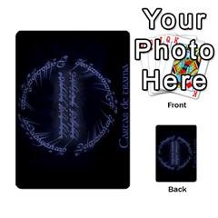 La Compania Del Anillo By Stratosdj   Multi Purpose Cards (rectangle)   8h0i15p7ln1f   Www Artscow Com Back 9