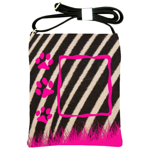 Zebra   Shoulder Sling Bag By Carmensita   Shoulder Sling Bag   Huf8m62ceuqa   Www Artscow Com Front