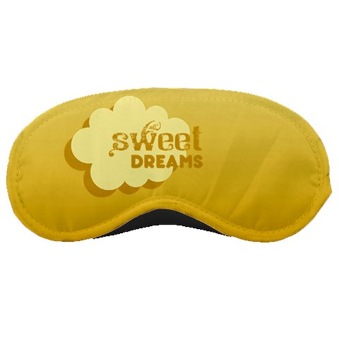 Yellow Sweet Dreams   Mask By Carmensita   Sleeping Mask   Sqik0pan1idk   Www Artscow Com Front