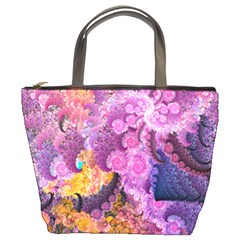Abstract Swirl Purple By Bags n Brellas   Bucket Bag   Isihmc36s7l2   Www Artscow Com Front