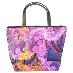 Abstract Swirl Purple By Bags n Brellas   Bucket Bag   Isihmc36s7l2   Www Artscow Com Back