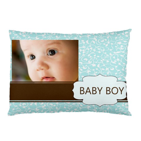 Baby Boy By Joely   Pillow Case   Ssrwwzuq5xi1   Www Artscow Com 26.62 x18.9 Pillow Case