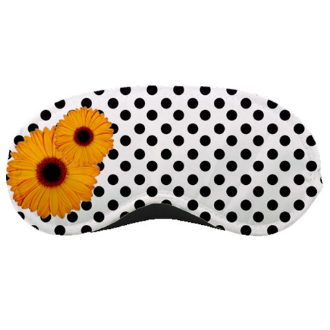 Spotted And Flowers   Mask By Carmensita   Sleeping Mask   S06elok7jq42   Www Artscow Com Front