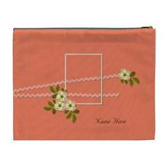 Cosmetic Bag (xl)  Peach Bag By Jennyl   Cosmetic Bag (xl)   Tr91q7thp2bw   Www Artscow Com Back