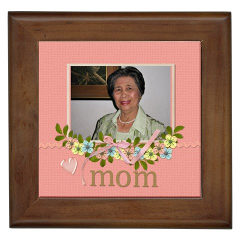 Framed Tile   Mom By Jennyl   Framed Tile   Ny52jfviqwbf   Www Artscow Com Front