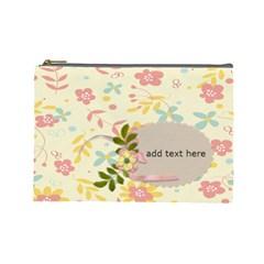 Cosmetic Bag (large)   Flower Power By Jennyl   Cosmetic Bag (large)   Ljaj0z6pyvly   Www Artscow Com Front