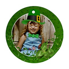 St  Patricks/irish Ornament, 2 Sides  Template By Mikki   Round Ornament (two Sides)   Qausrtpb17x3   Www Artscow Com Front