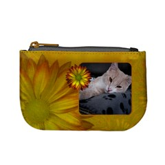 Yellow Floral Mini Coin Purse By Lil    Mini Coin Purse   Blhfbr26g80q   Www Artscow Com Front