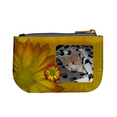 Yellow Floral Mini Coin Purse By Lil    Mini Coin Purse   Blhfbr26g80q   Www Artscow Com Back
