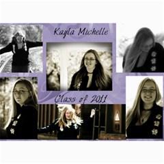 Kayla Announcement 2011(1) By Tammy Baker   5  X 7  Photo Cards   Xh8d11vqniq7   Www Artscow Com 7 x5 Photo Card - 1