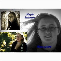 Kayla Announcement 2011(2) By Tammy Baker   5  X 7  Photo Cards   5rur2k80raid   Www Artscow Com 7 x5 Photo Card - 3