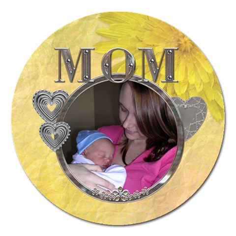Mom 5  Magnet By Lil    Magnet 5  (round)   Ae699ooji02e   Www Artscow Com Front