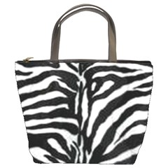 Zebra Fur Print Bucket Bag By Bags n Brellas   Bucket Bag   S87w80h3lijv   Www Artscow Com Front