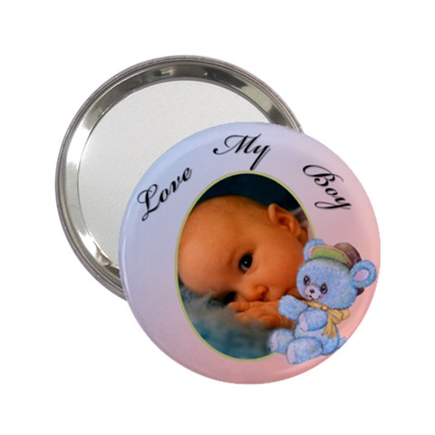 Love My Boy Mirror By Deborah   2 25  Handbag Mirror   46tuyqkw01ss   Www Artscow Com Front