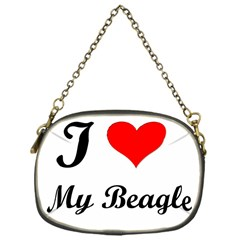 I Love My Beagle Chain Purse (One Side) by premium